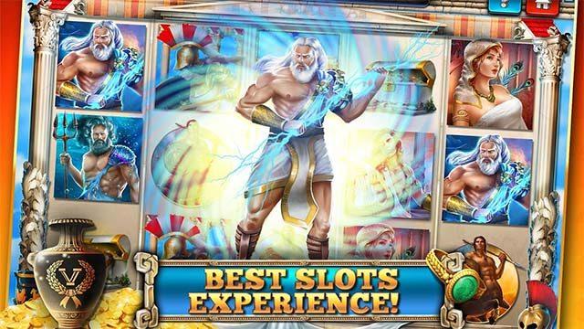 Imagen de la pantalla del tragamonedas zeus